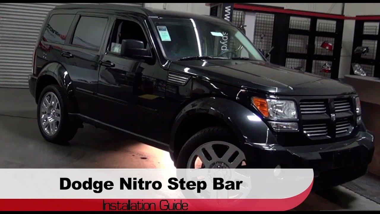 Spyder Auto Installation 2007 2010 Dodge Nitro Step Bars Youtube