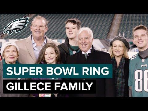 Eagles Present Gillece Family With Super Bowl Ring | Philadelphia Eagles