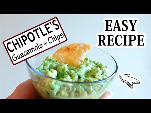 Chipotle's Guacamole + Tortilla Chips | Easy Recipe