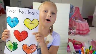 Алиса учит цвета и делает уроки ! Видео про кукол для детей!