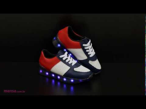 60278b3685a Tênis Infantil Luz Led Molekinho - YouTube