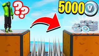 IF YOU DO this IMPOSSIBILE SALTO WIN 5000 V-BUCKS!! Fortnite ITA 😱