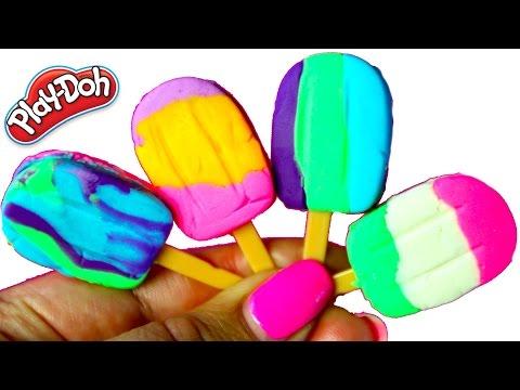PALETAS Y HELADOS DE PLASTILINA PLAY DOH| Play Doh Ice Cream Popsicles|MDJ