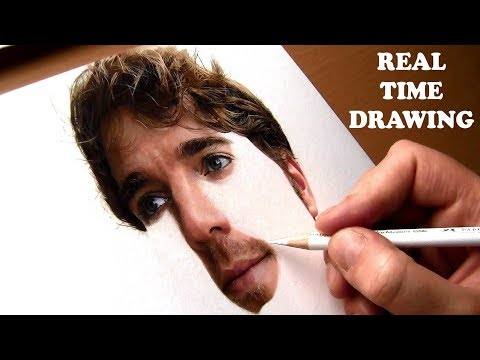 Real Time Drawing of Skin tone in Colored Pencils ||  Shane Dawson
