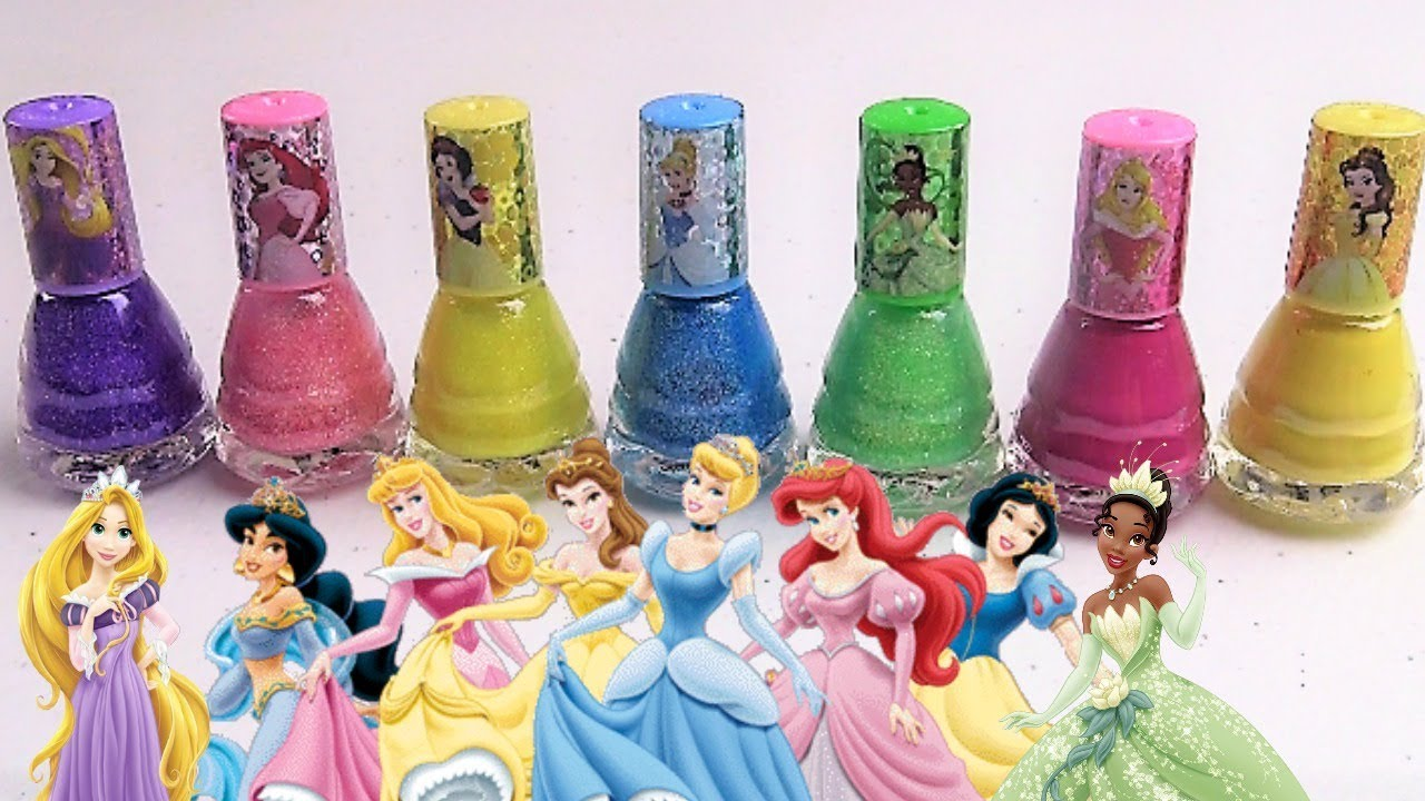 learn colors with princess nail