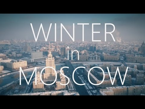 Beautiful WINTER Moscow city Aerial reel/ Зимняя, заснеженна