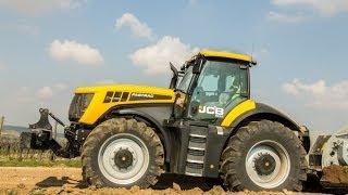 JCB Fastrac 8310 mit FAE MTH 225: Bodenstabilisierung im Wegebau