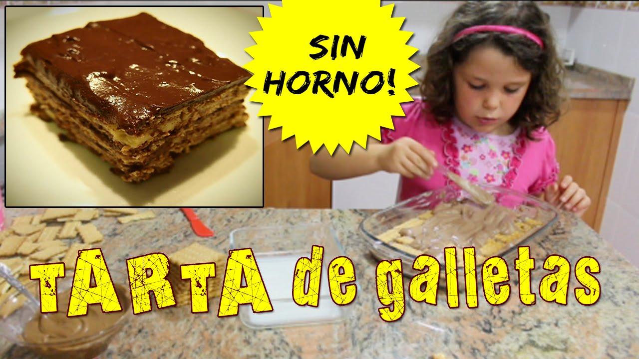 Tarta De Galletas Sin Horno Recetas Fáciles Para Niños Youtube