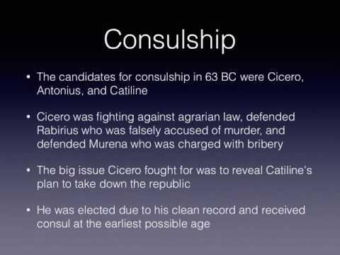 cicero consulship and conspiracy
