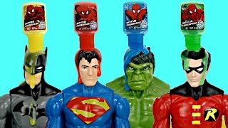 SUPERHERO Bath Paint Set with Batman, Superman, Incredible Hulk & Robin