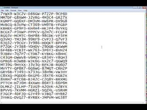 Windows 7 Ultimate Serial Numbers - YouTube
