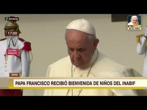 Llegada del Papa Francisco a Lima, Perú [RPP Noticias]