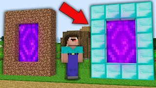 Minecraft NOOB vs PRO: WHAT RAREST DIAMOND PORTAL VS DIRT PORTAL WILL CHOOSE NOOB? 100% trolling