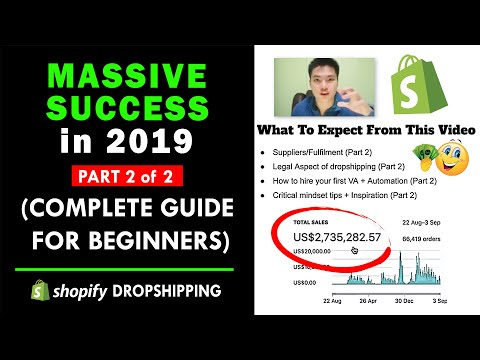 (FREE Dropshipping Course): COMPLETE Guide for beginners to achieve MASSIVE SUCCESS in 2019! Part2/2 thumbnail