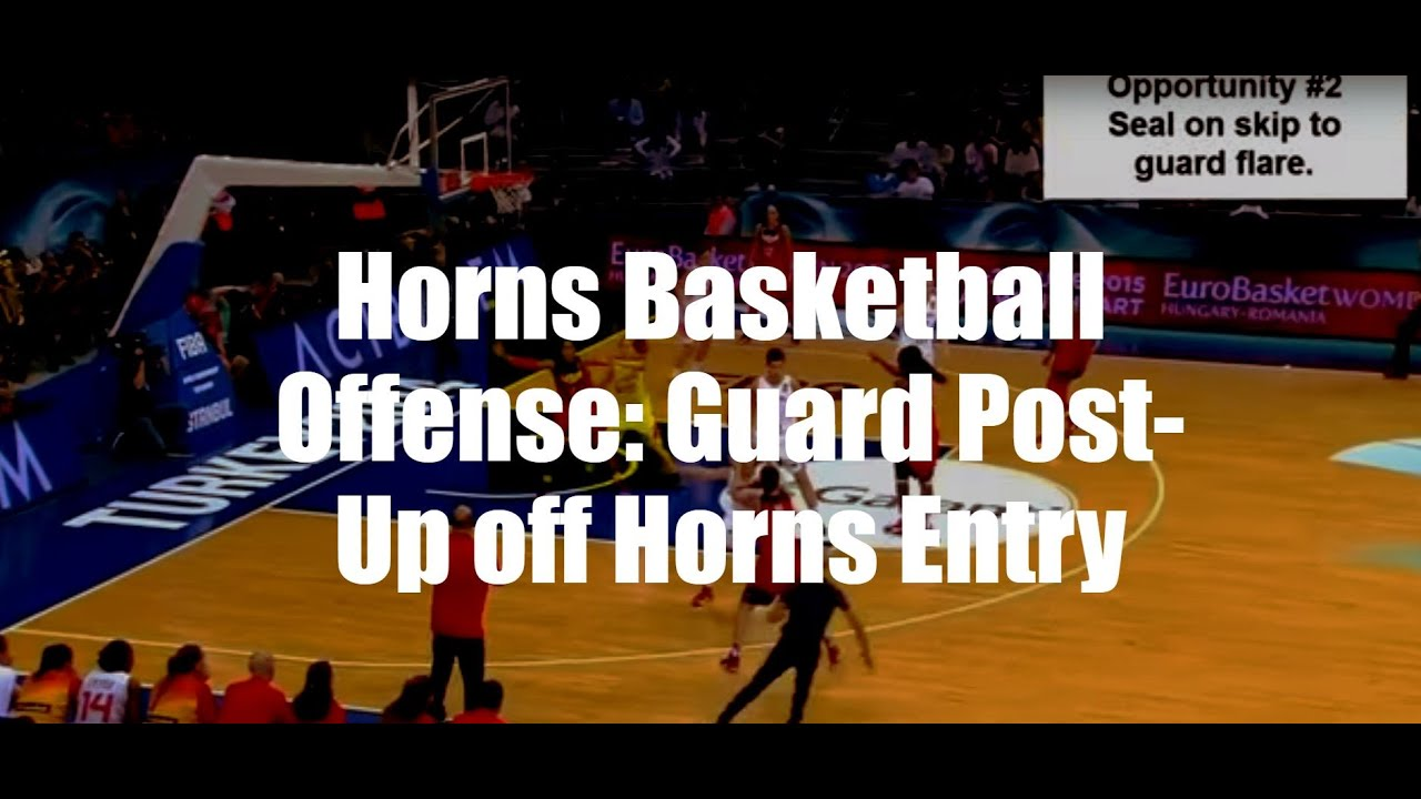 Horns Basketball Offense Guard Post Up Off Entry