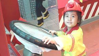 불이야!! 소방차 출동! 서은이의 소방차 경찰차 체험 어린이 박물관 체험 학습 역할놀이 직업 Kids Museum
