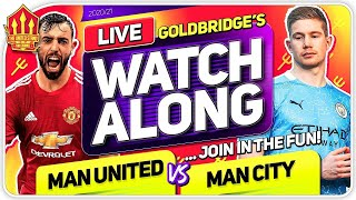 MANCHESTER UNITED vs MAN CITY With Mark GOLDBRIDGE LIVE
