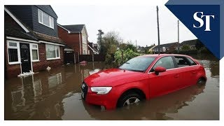A frosty reception for Boris Johnson in flood-hit north