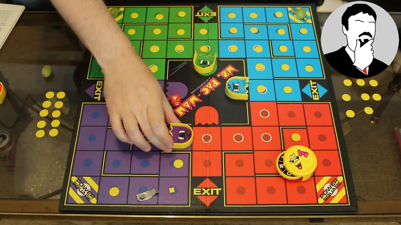 Pacman Table Game >> Ms Pac Man The Board Game Ashens