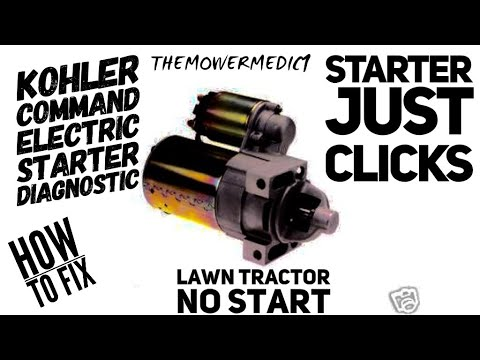 23 HP KOHLER PRO / NO START / JUST CLICKS / HOW TO DIAGNOSE THE ELECTRIC  STARTER
