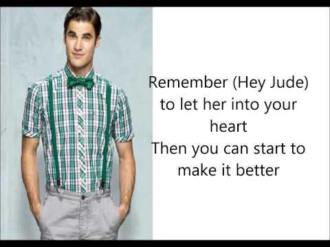 Glee Cast- Hey Jude (Lyrics)