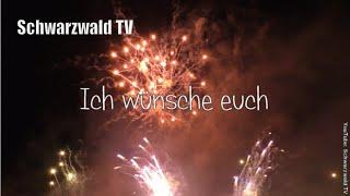 An euch: silvestergrüße 2020/21 mit feuerwerk - guten rutsch und ein frohes neues jahr ins neue rutscht gut rein: prosit neujahr film...