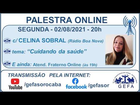 Assista: Palestra Online - c/ CELINA SOBRAL (02/08/2021)