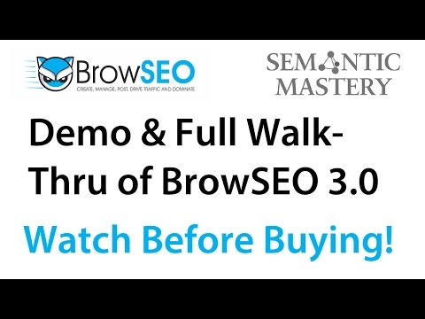 BrowSEO v 3.0 Demo and Review with Simon Dadia