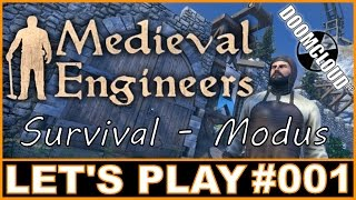 Let's Play MEDIEVAL ENGINEERS #001 - Erste Schritte [ survival / deutsch / german ]