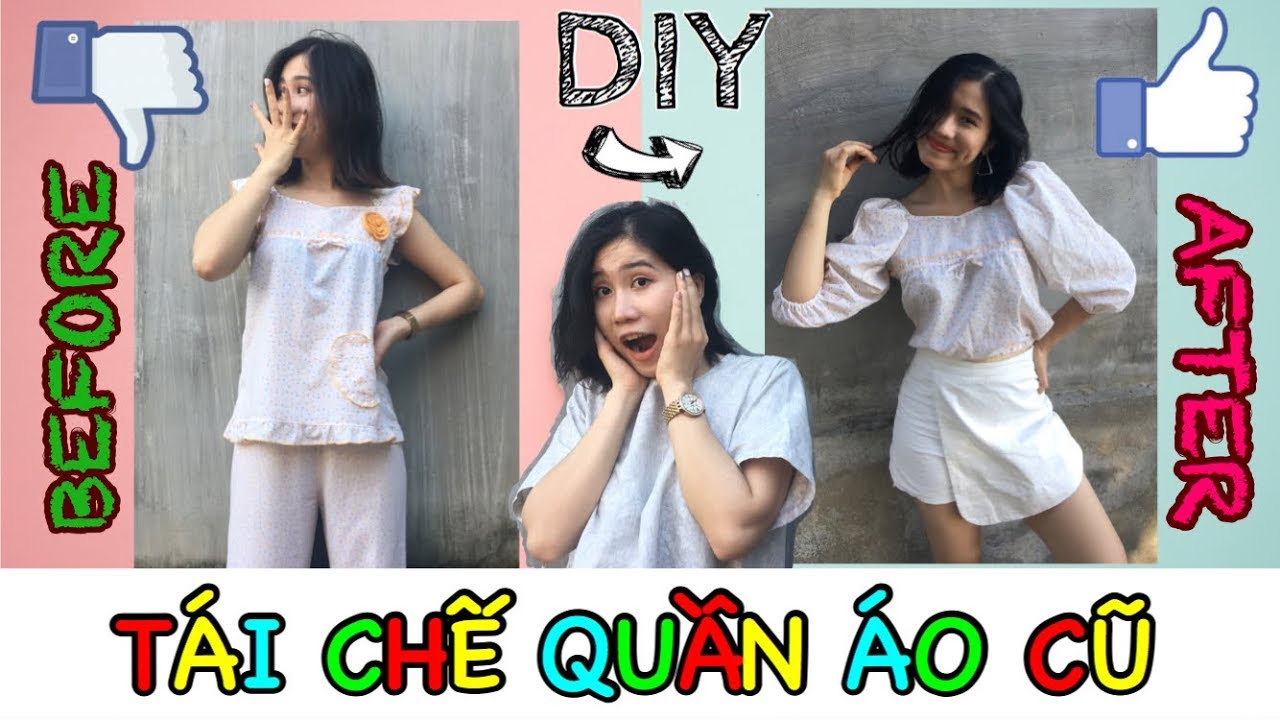 DIY #1: TÁI CHẾ QUẦN ÁO CŨ | 5 Awesome Fashion Hacks & more DIY Projects by Hạ Summi | Hạ Summi