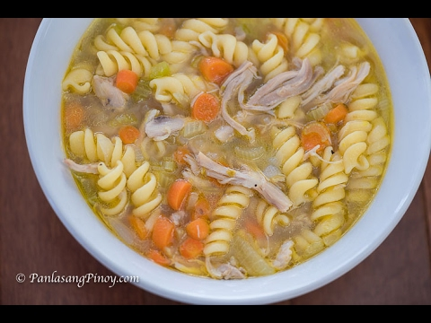 Chicken Noodle Soup Recipe   How To Cook Chicken Sopas   Panlasang Pinoy