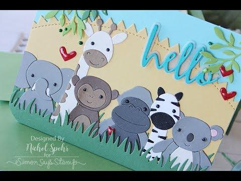 Simon Says Stamp | Safari Picture Book Animals (all die cuts)