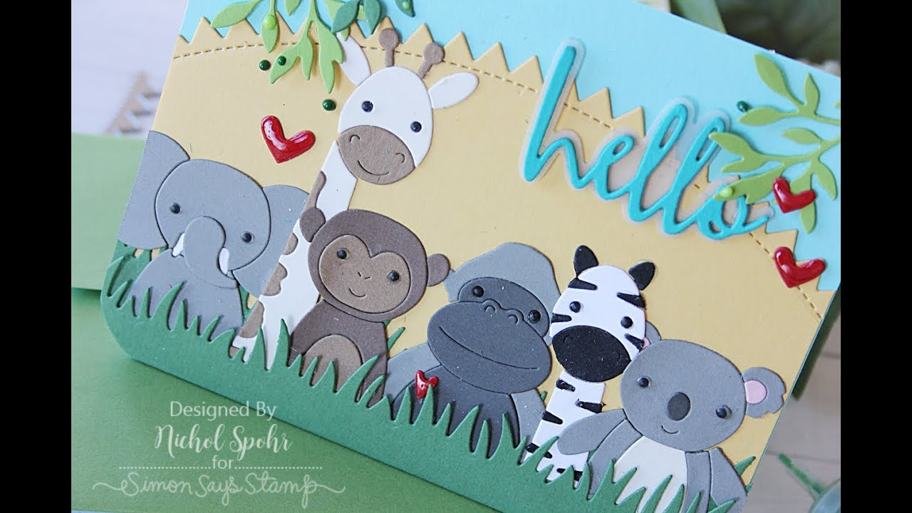 Simon Says Stamp Safari Picture Book Animals All Die Cuts Youtube
