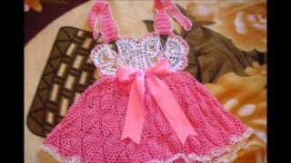 Уникальные вязаные платья для маленьких  девочек