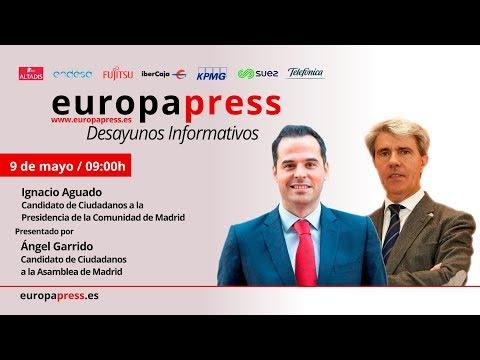 Desayuno Informativo Europa Press con el candidato de Cs a la CAM, Ignacio Aguado