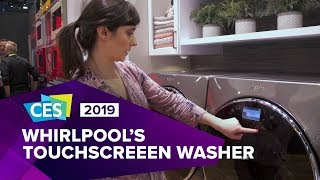 Whirlpool's touchscreen washer with app dispenses laundry detergent for you