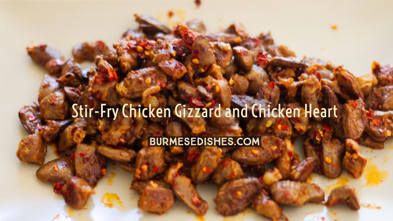 Stir Fry Chicken Gizzard And Heart Youtube
