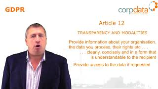 What is transparency? Part 7 in our Guide to GDPR in 1 minute bites