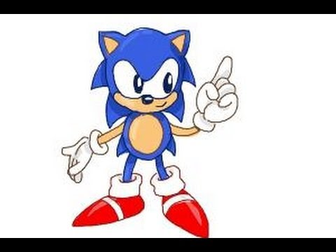 How To Draw Classic Sonic Youtube