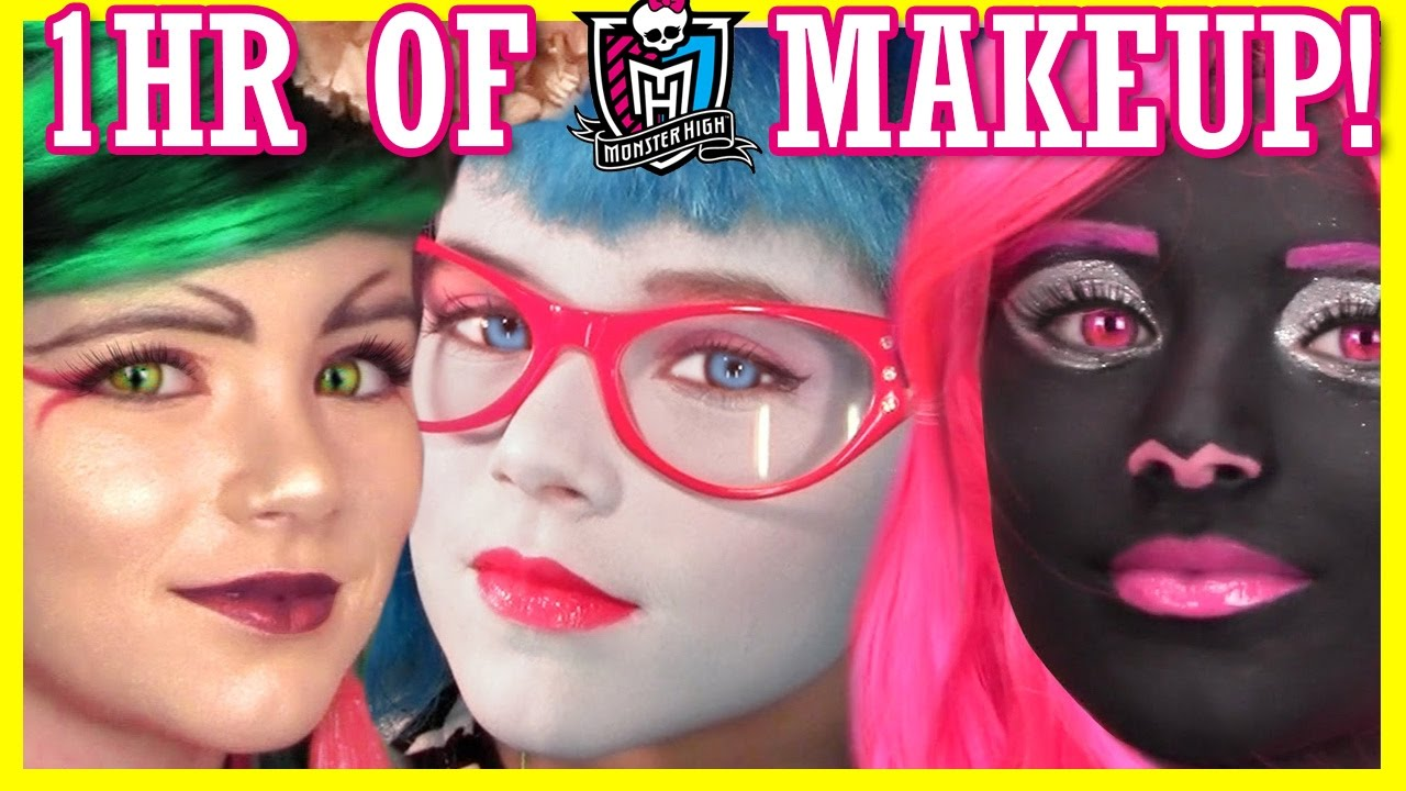 1 hour of monster high doll makeup tutorials costume halloween 1 hour of monster high doll makeup tutorials costume halloween or cosplay kittiesmama youtube baditri Gallery