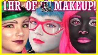 Video 1 hour of MONSTER HIGH DOLL MAKEUP TUTORIALS! | Costume, Halloween, or Cosplay!  |  KITTIESMAMA download MP3, 3GP, MP4, WEBM, AVI, FLV November 2017