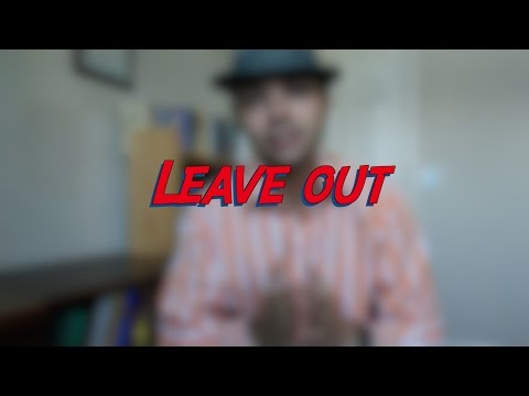 Leave out - W15D4 - Daily Phrasal Verbs - Learn English online free video lessons