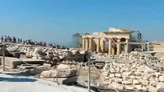 Акрополь Парфенон Афины Греция сентябрь 2015(Афи́нский акро́поль — акрополь в городе Афины, представляющий собой 156-метровый скалистый холм с пологой..., 2015-09-21T05:49:13.000Z)