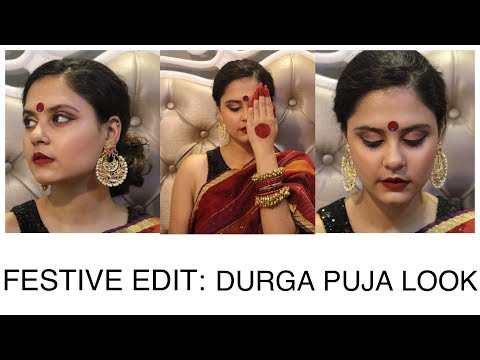 The Festive Edit: Durga Puja Look 2017|| Bengali Traditional Makeup & Hair || Ft. Shruti Malhotra