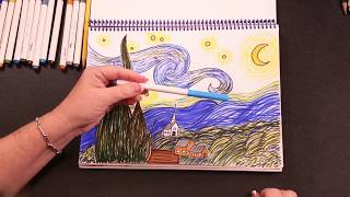 how to draw van gogh
