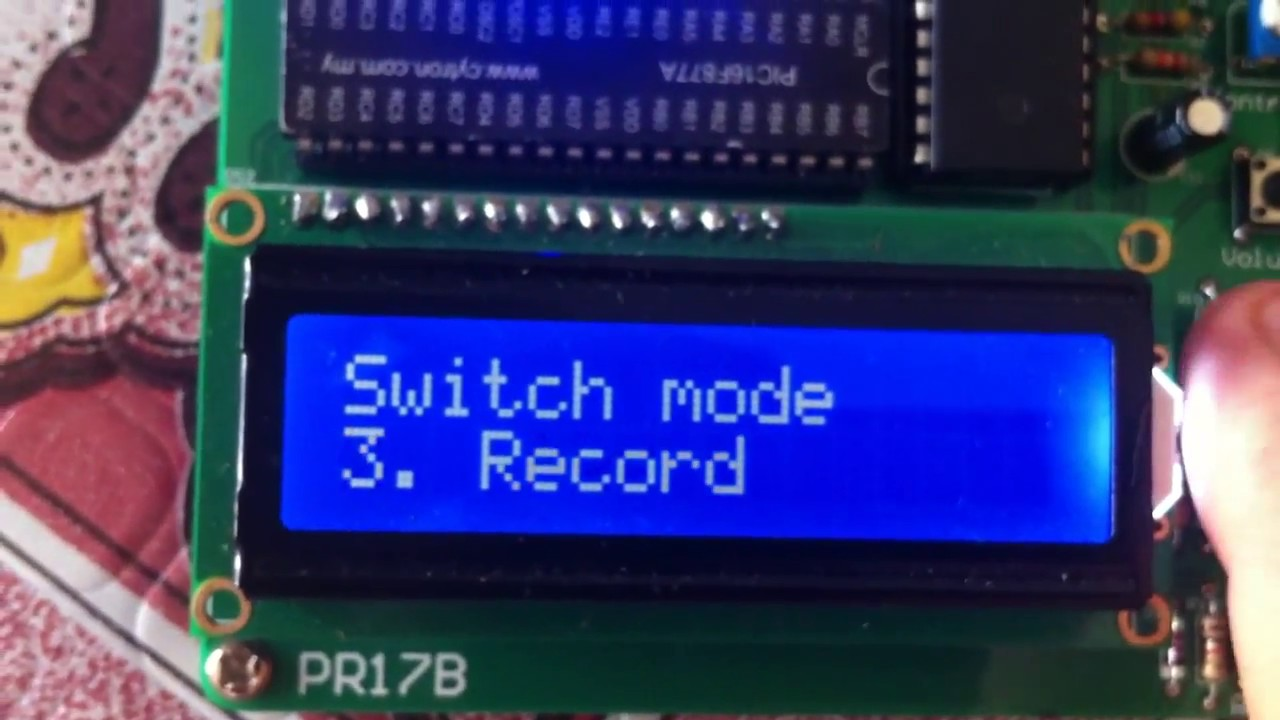 Voice Recording And Playback Isd1790 Pic16f877a Youtube Recorder Circuit