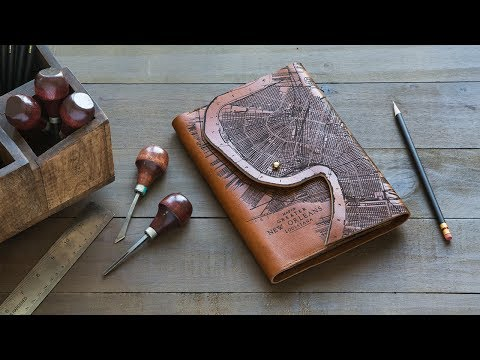 Tactile Craftworks | Etched Leather Map Goods