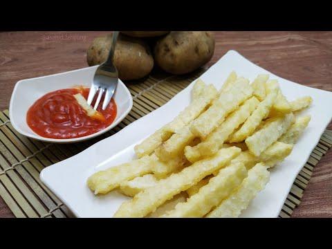 Begini caranya membuat kentang goreng ala fast food yang renyah dan enggak cepat lembek!.