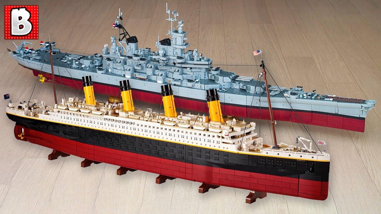 LEGO Titantic and Custom Missouri Battleship Scale Exactly! LEGO News
