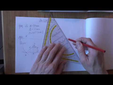 dreiecke konstruieren mit 2 seiten 1 winkel ssw mathematik geometrie. Black Bedroom Furniture Sets. Home Design Ideas